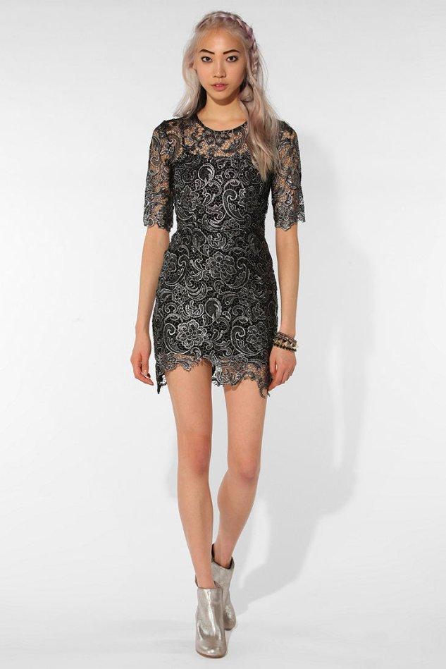 Shakuhachi X OU Platinum Lace Dress $149 USD