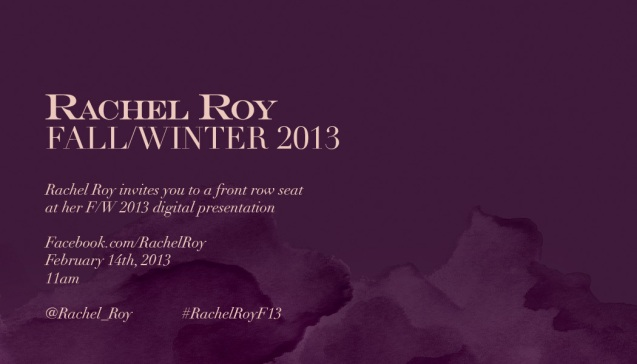 You're Invited: Rachel Roy's Fall 2013 Collection Debut