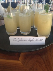Guests sipped on custom drinks like The Julianne Tripple Threat…